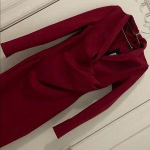 Dark red bondage dress